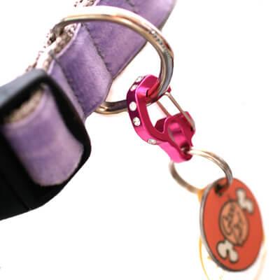 Rhinestone Rubit Dog Tag Clip -- 3 colors!